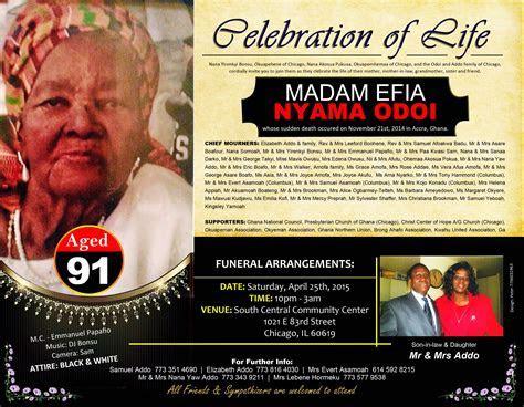 Celebration of life Of the late Madam Efia Nyama Odoi