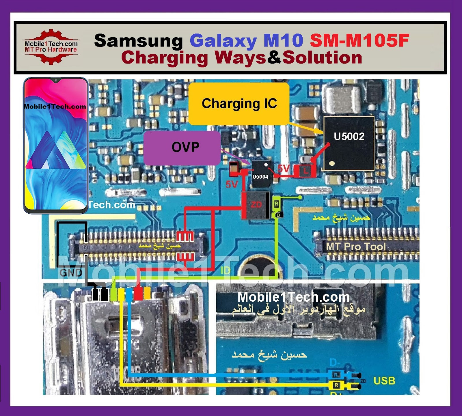 Samsung Galaxy M10 M105F Charging Solution Jumper Problem Ways