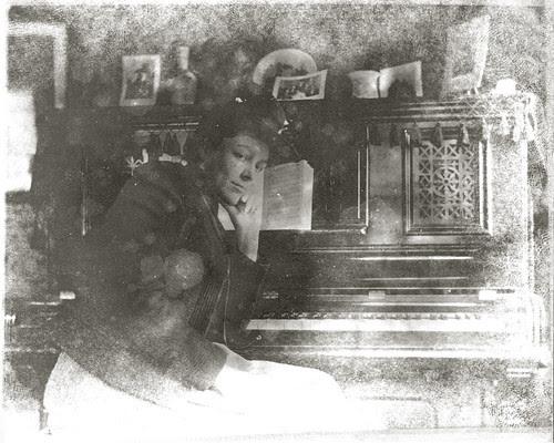 At the Piano - enhanced