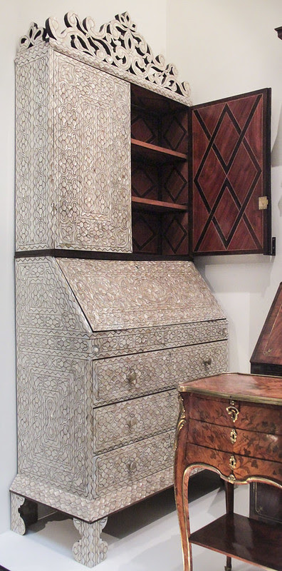 Desk and bookcase, probably about 1780-1820, prpbably Mexico