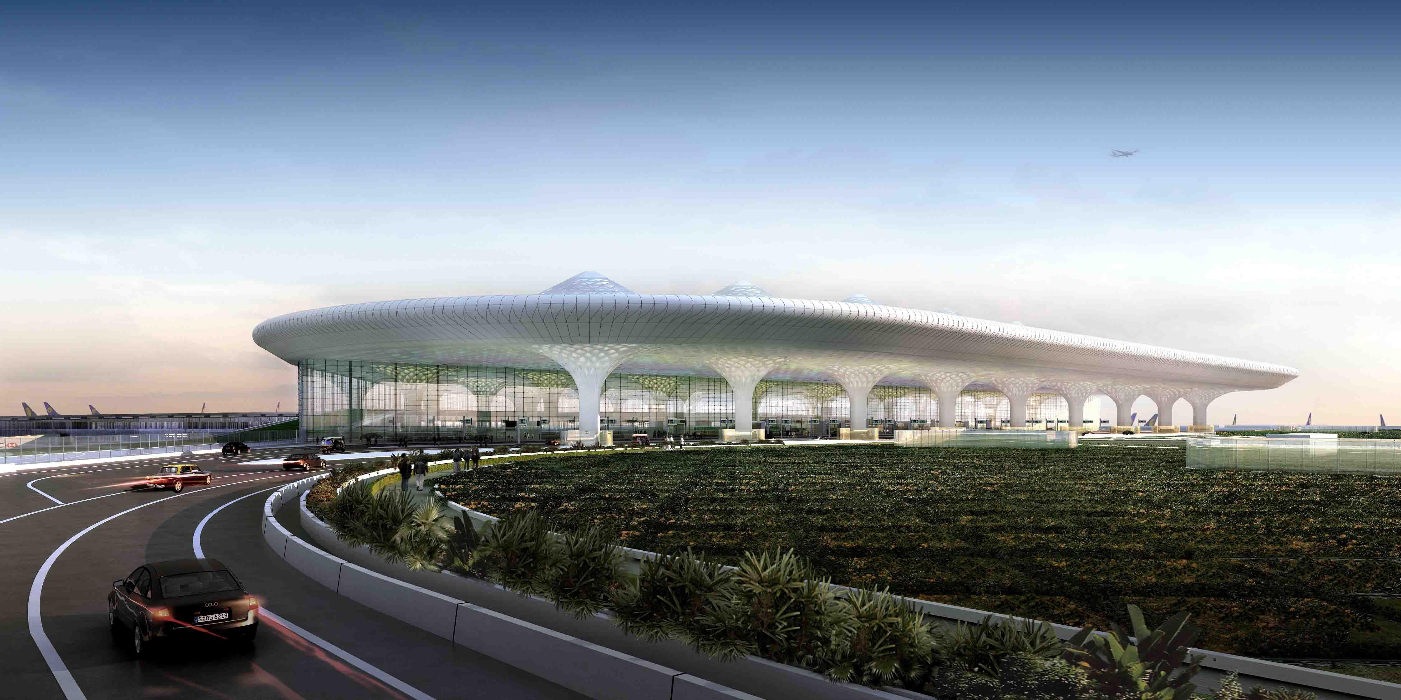 Sân bay lung linh trên nền trời xanh thẳm