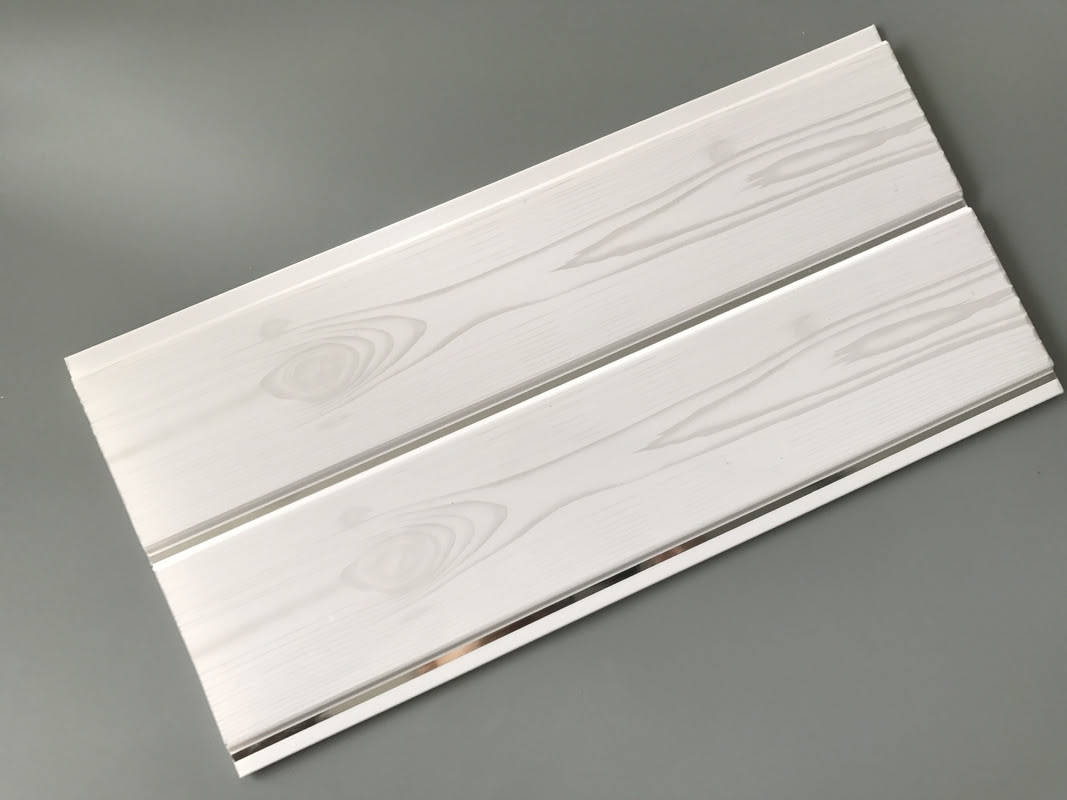 Printing Surface Plastic Wall Liner Panels , White Wood ...
