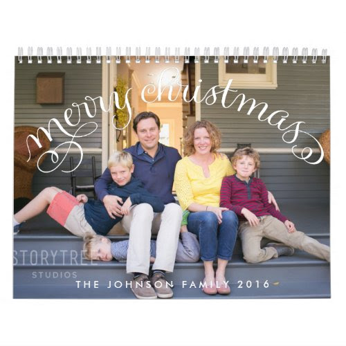 Photo Personalized Calendars 2016 Merry Christmas