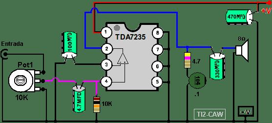 amplificador tda7235