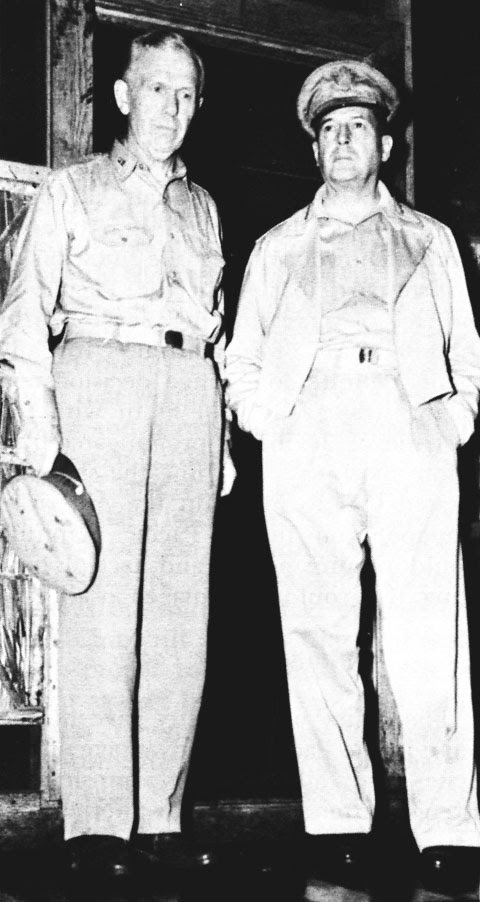General Marshall with General Douglas MacArthur
