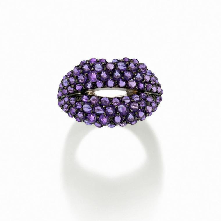 anillo de labios Solange Azagury-perdiz caliente