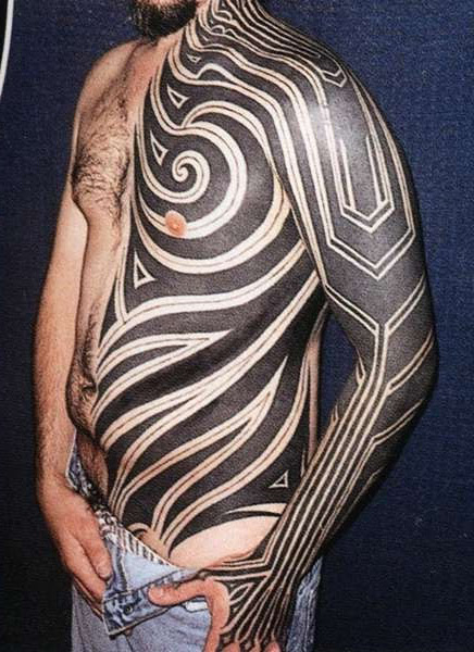 Blackwork Half Of Body Tribal Tattoo Best Tattoo Ideas Gallery
