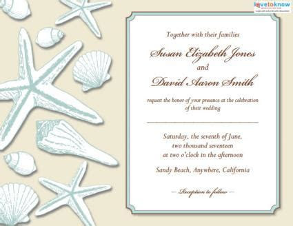 Beach Wedding Invitations   LoveToKnow