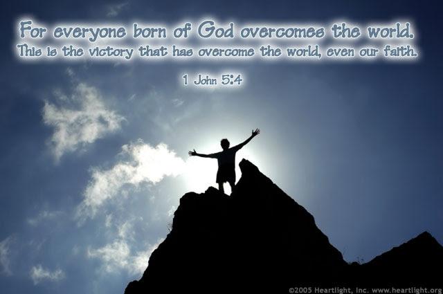 Inspirational illustration of 1 John 5:4
