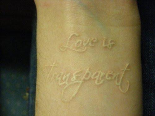 White Ink Tattoo On Dark Skin Tattoo Love