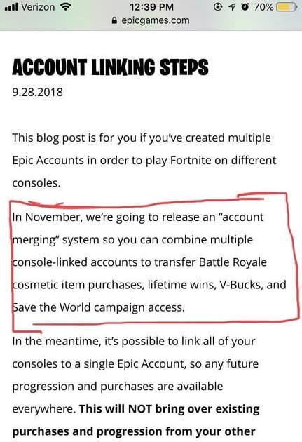 How To Merge Accounts In Fortnite Merge Any Account Fortnite