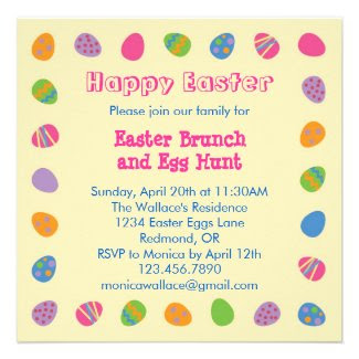 Easter Egg Border Invitation