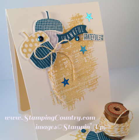 Acorny Thank You Stampin' Up! Card