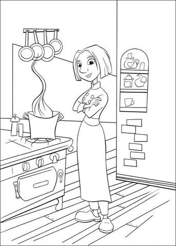 Dibujo De Colette En La Cocina Para Colorear Dibujos Para Colorear