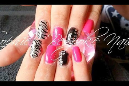Acrylic Nails Designs Pink And Black