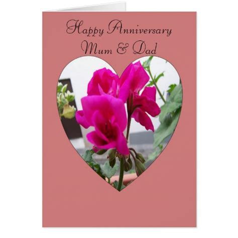 Happy Wedding Anniversary Mother And Father Card   Zazzle