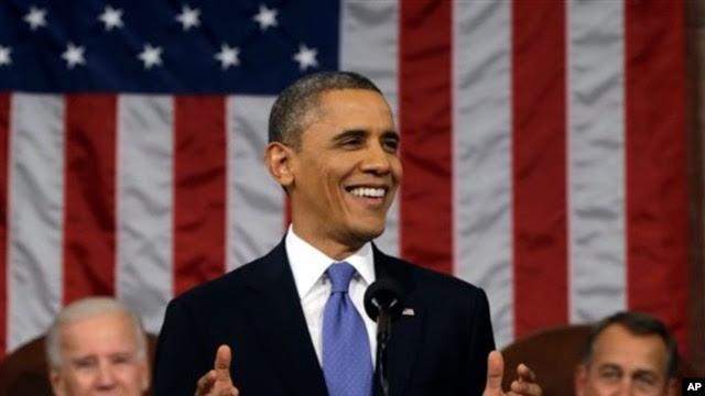Rais Barack Obama, akitoa hotuba ya hali ya kitaifa Feb. 12, 2013