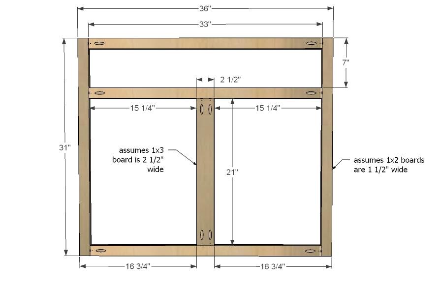 Concept 21+ Kitchen Cabinet Face Frame Dimensions
