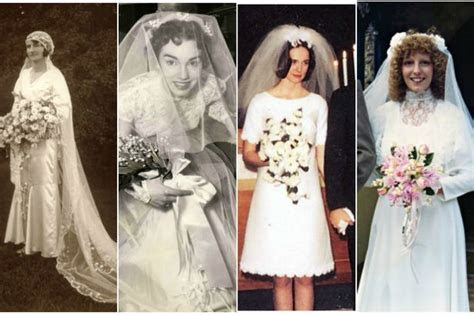 Wedding photos through the decades show how much bridal