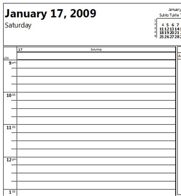 Daily Schedule 15 Minute Increments | Daily Planner