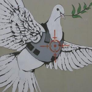colomba della pace con giubbotto