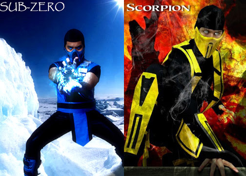 mortal kombat 9 sub zero vs scorpion. cartoon pictures, Mortal