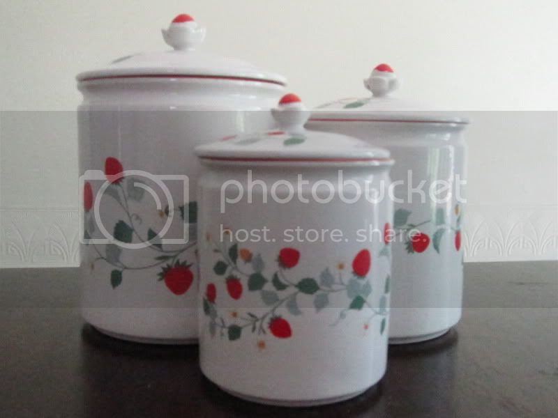 strawberry canisters