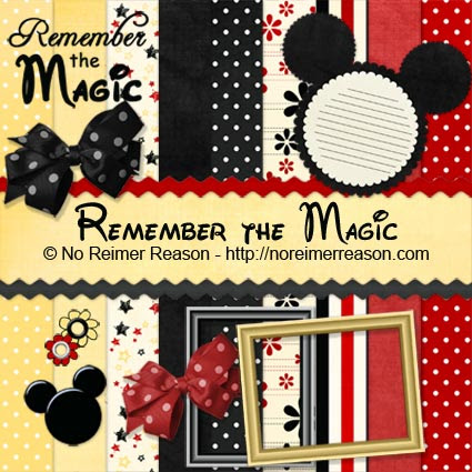 No Reimer Reason - Free Digital Scrapbook Kit - Click for larger preview