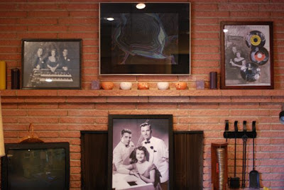 Fireplace in the Norman Petty Recording Studios, Clovis, New Mexico