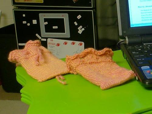 Knitted lavender sachet gift bags
