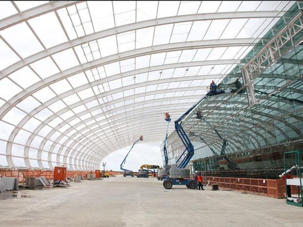 Previsão é que aeroporto de São Gonçalo do Amarante esteja operando em abril de 2014 (Foto: Demis Roussos)
