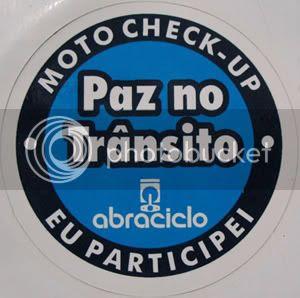 Abraciclo: adesivo do MotoCheck-Up | 2012 em Brasília