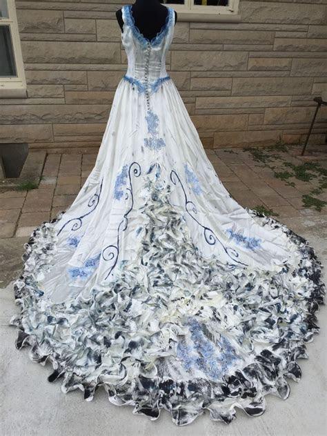 details  forest fairy wedding dress costume size  p