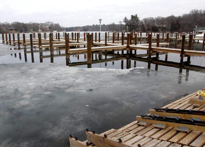 Dock improvements at Carson's Bay