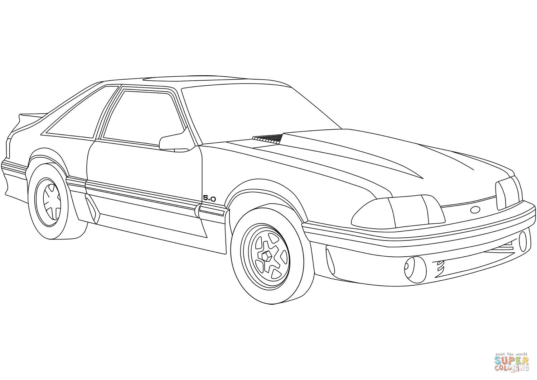 er sur la Ford Mustang coloriages pour visualiser la version imprimable ou colorier en ligne patible avec les tablettes iPad et Android