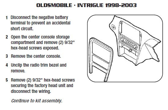 .1998-OLDSMOBILE-Intrigueinstallation instructions.