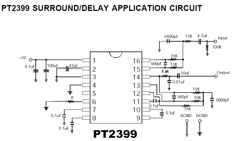 Grozzart  Digital Echo Repeat Circuit Schematic