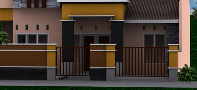 54 Foto Desain Pagar Rumah Minimalis Modern 1 Lantai Gratis Download