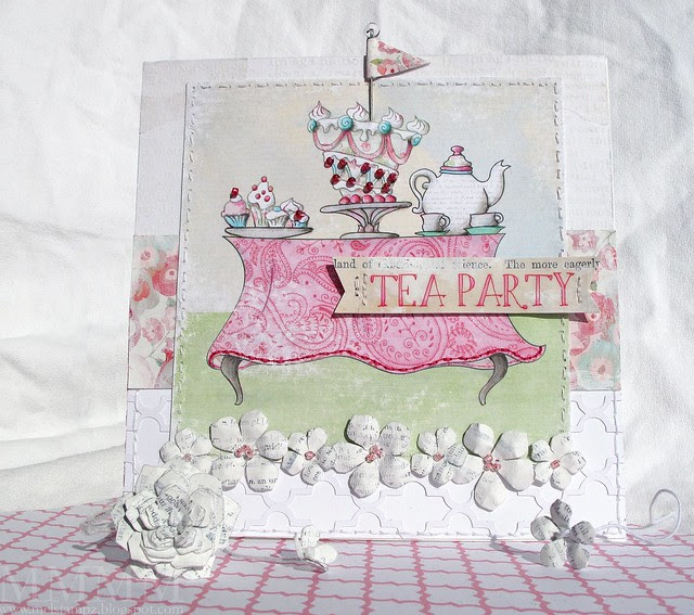 1 The Paper Shelter - tea party card - mel stampz