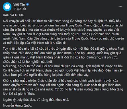 """Ở Việt Nam không có """"chủ nghĩa đầu hàng"""" trước Trung Quốc"""