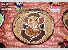 Navadhanya pillaiyar or navadhanya ganapathi is made with nine grains called navadhanyam