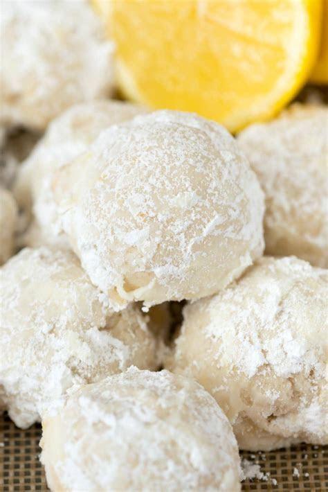 Lemon Snowball Cookies   Crazy for Crust