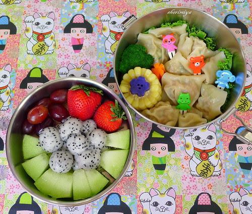 Wonton Dragonballs Bento by sherimiya ♥