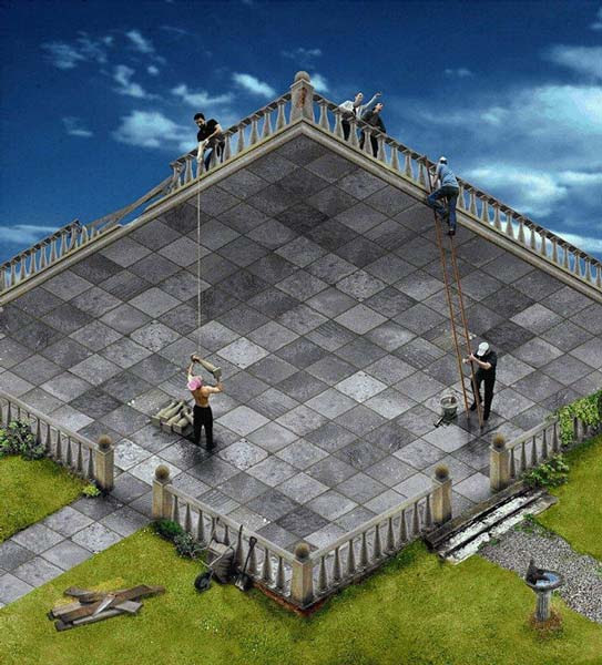 Courtyard or Terrace Illusion