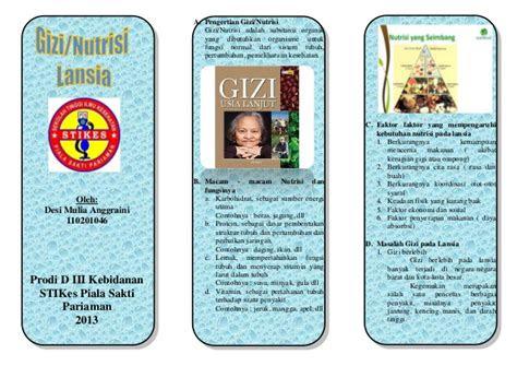 leaflet gizi lansia