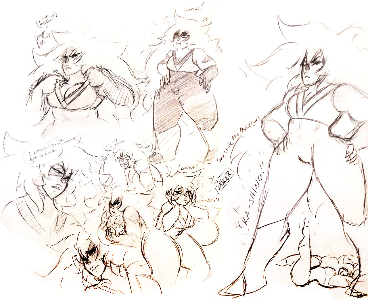 jasper doodles! it was a busy day so this was all i could do at work lol