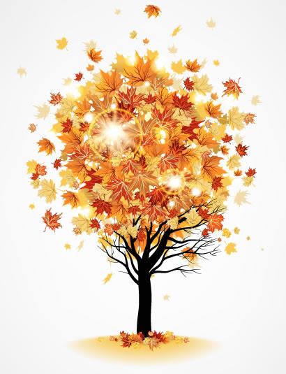 秋の紅葉の木カエデのイラストaieps ベクタークラブ