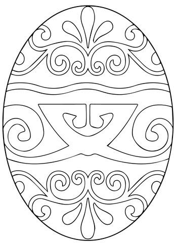 pysanka ukrainian easter egg coloring page  supercoloring