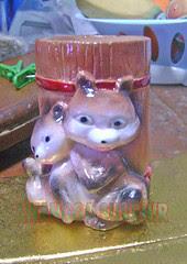 souvenir gypsum tempat pensil bumbung kucing
