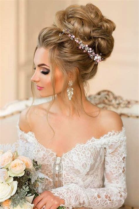 Best 25  Wedding bun hairstyles ideas on Pinterest